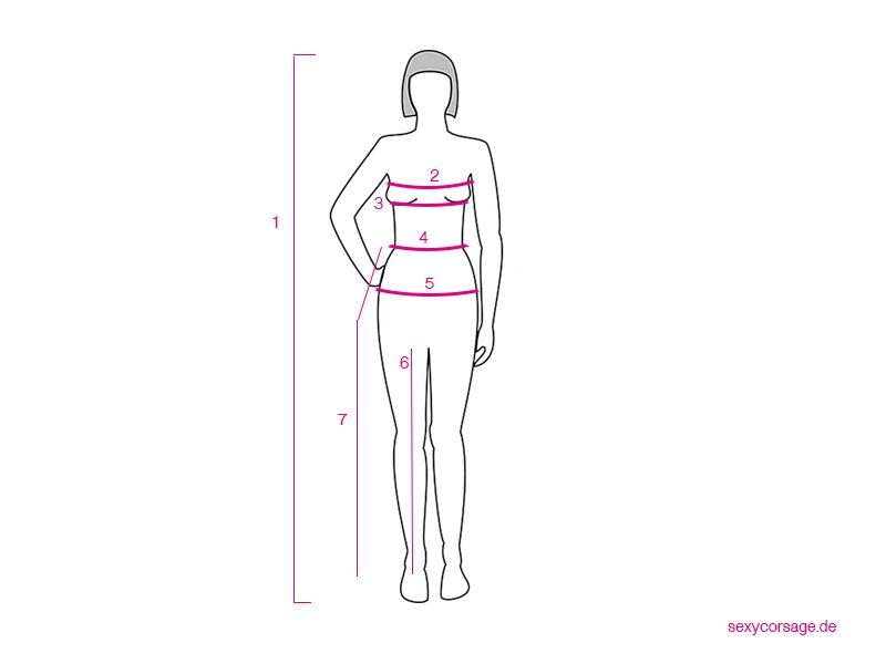 Corsage-Größe-Körpergröße-messen