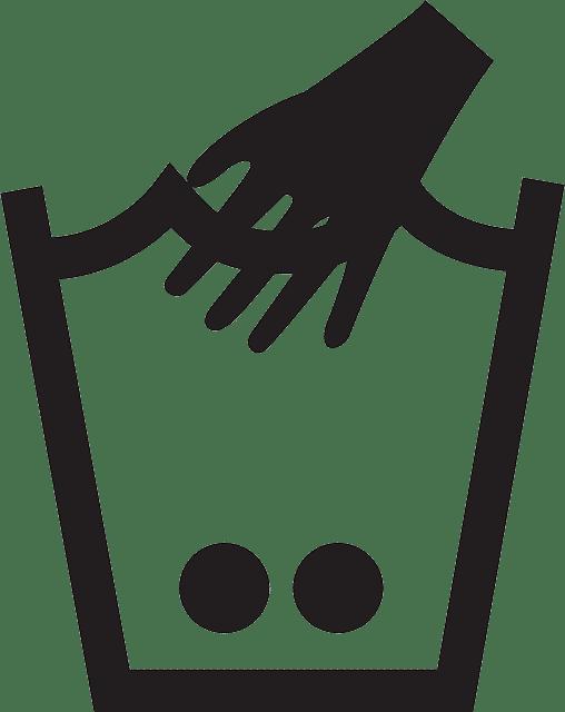 Corsage per Hand waschen